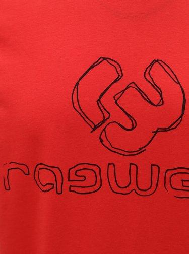 Červené pánské tričko s potiskem Ragwear Charles