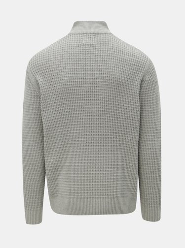 Sivý sveter so zipsom Burton Menswear London