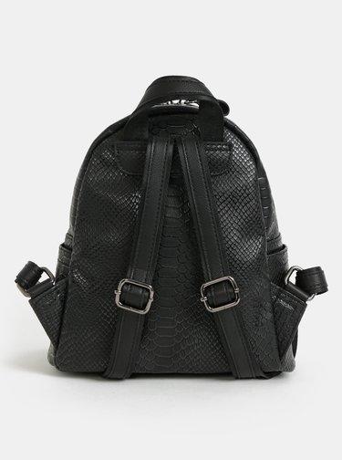 Čierny batoh s krokodílím vzorom Claudia Canova Anii Xs