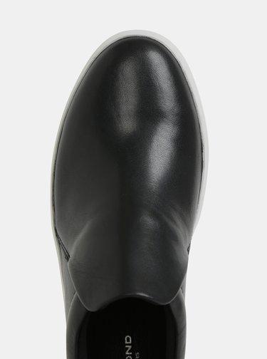 Pantofi slip on negri de dama din piele cu platforma Vagabond Jessie