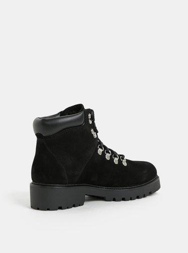Čierne dámske kožené zimné členkové topánky Vagabond Kenova
