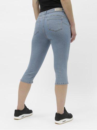 Pantaloni 3/4 albastru deschis din denim VERO MODA Hot Seven
