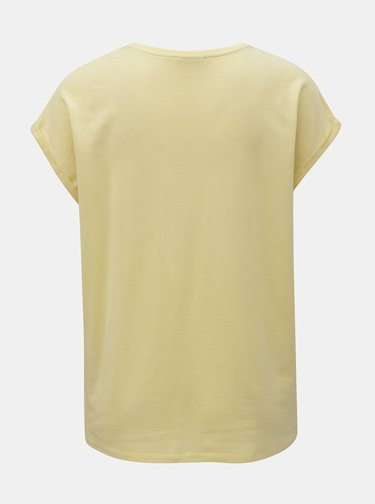 Žluté basic tričko AWARE by VERO MODA Plain