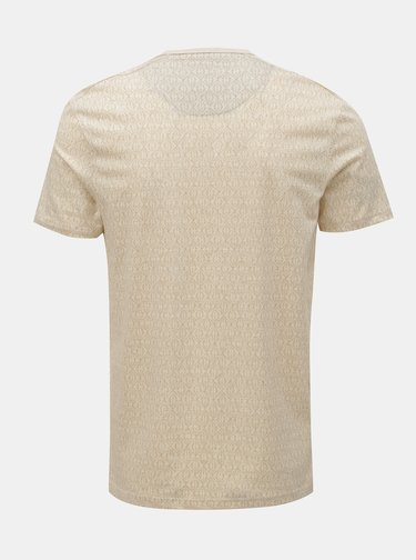 Tricou bej cu model Selected Homme Sander