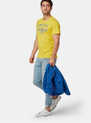 Žluté pánské tričko s potiskem Tom Tailor