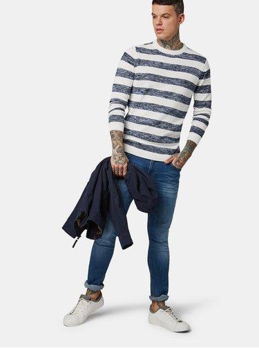 Pulover barbatesc albastru-alb in dungi Tom Tailor Denim