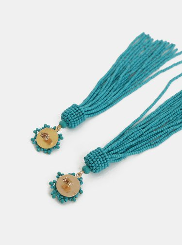 Tyrkysové korálkové náušnice Pieces Bea