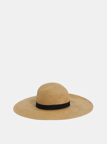 Svetlohnedý klobúk Pieces Bianka