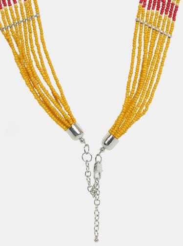 Náhrdelník v striebornej a oranžovej farbe Pieces Bibbi