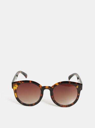 Hnedé vzorované slnečné okuliare Pieces Beate