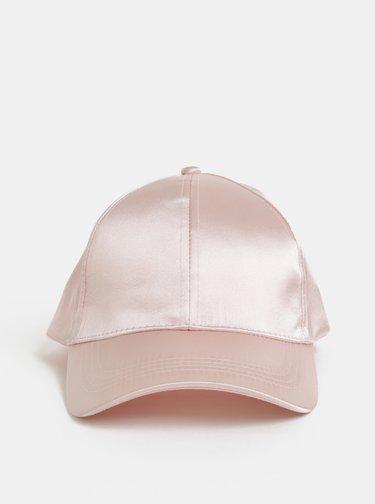 Růžová kšiltovka Pieces Sandra