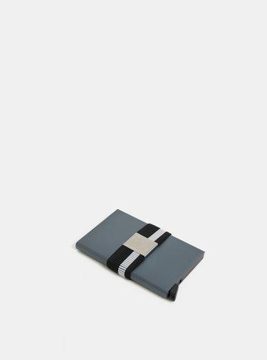 Čierna pruhovaná gumička na hliníkové puzdro Secrid