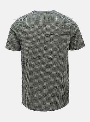 Šedé vzorované tričko Jack & Jones Misto