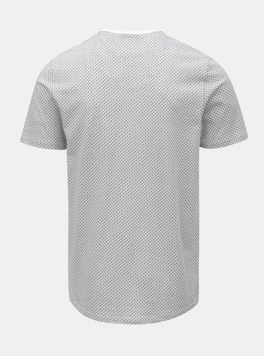 Bílé vzorované tričko Jack & Jones Misto
