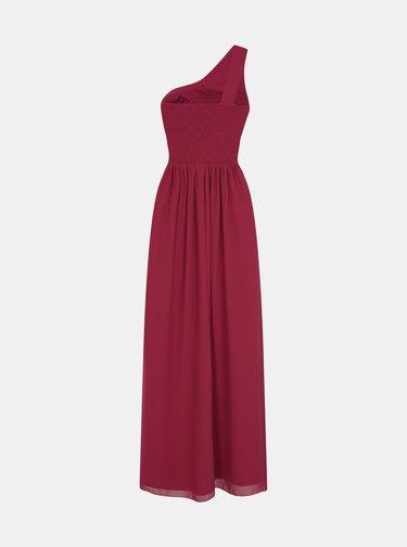 Vínové šaty s čipkou na bokoch Little Mistress