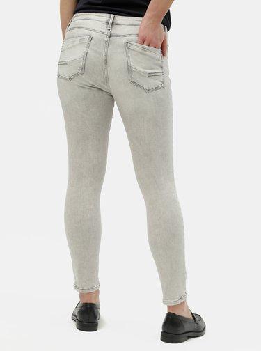 Světle šedé dámské skinny fit džíny Cross Jeans Alyss