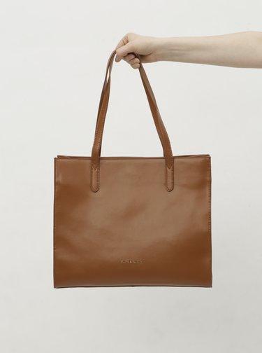 Hnedá kožená kabelka Smith & Canova Maral