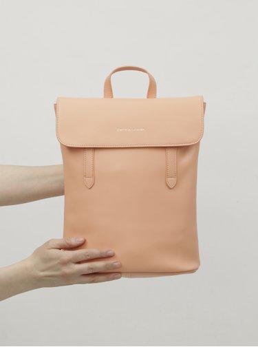 Ružový kožený batoh Smith & Canova Miza