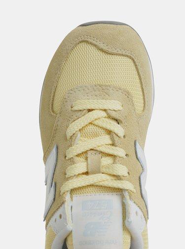 Žlté dámske semišové tenisky New Balance 574