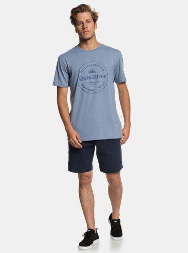 Tricou albastru deschis regular fit cu imprimeu Quiksilver