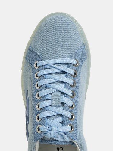 Modré rifľové tenisky KARL LAGERFELD Kupsole