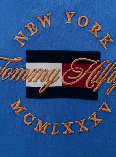 Modrá pánska mikina s nášivkou Tommy Hilfiger