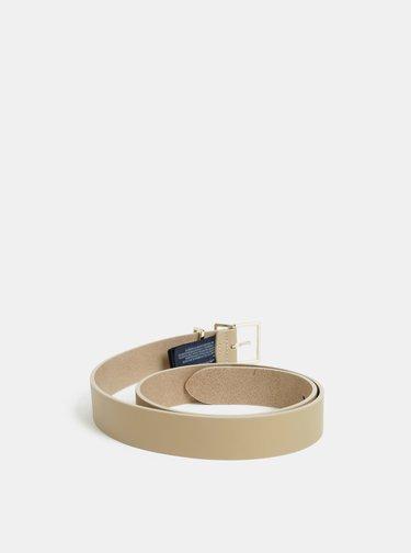Béžový dámský kožený pásek Tommy Hilfiger