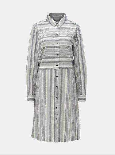 Svetlosivé pruhované košeľové šaty VILA Navida