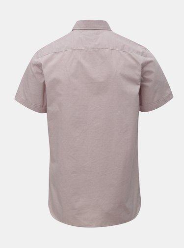 Světle růžová vzorovaná slim fit košile Tommy Hilfiger