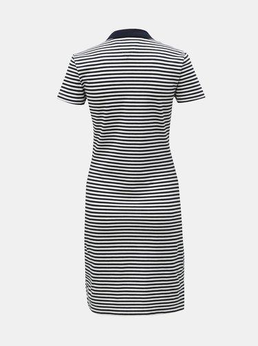 Bílo-modré pruhované slim fit šaty Tommy Hilfiger New Chiara