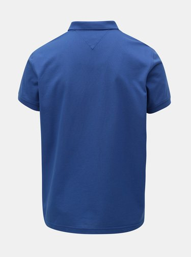 Modré pánské regular fit polo tričko s nášivkou Tommy Hilfiger