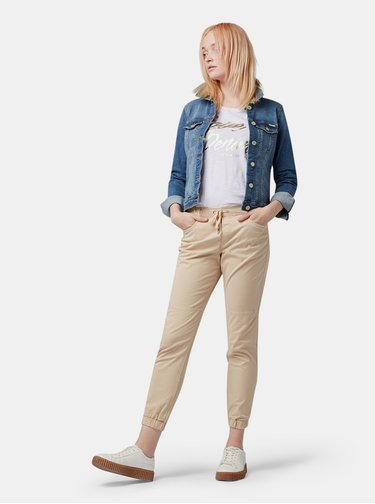 Pantaloni bej de dama Tom Tailor Denim