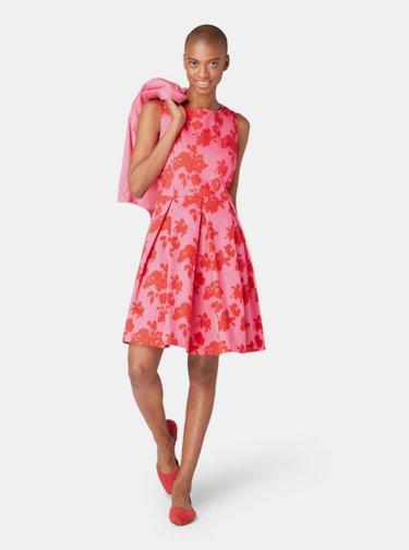 Rochie roz florala Tom Tailor