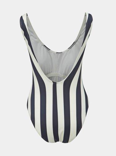 Bílo-modré pruhované jednodílné plavky Pieces Bea