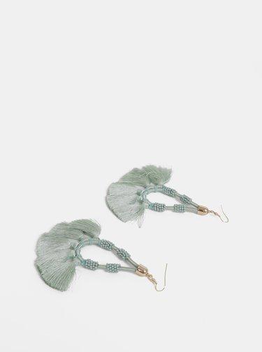 Mentolové náušnice so strapcami Pieces Bemma