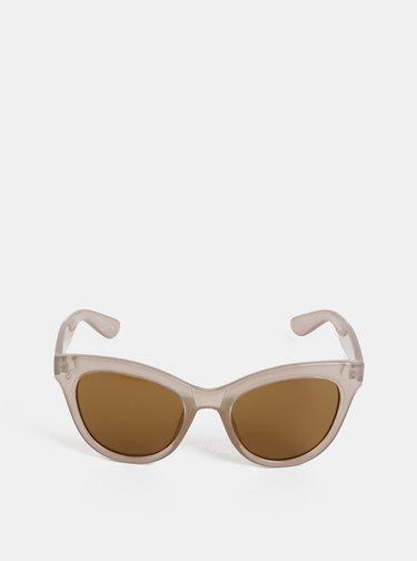 Béžové slnečné okuliare Pieces Sonja