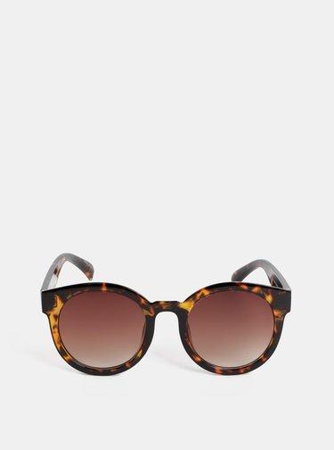 Hnedé vzorované slnečné okuliare Pieces Stella