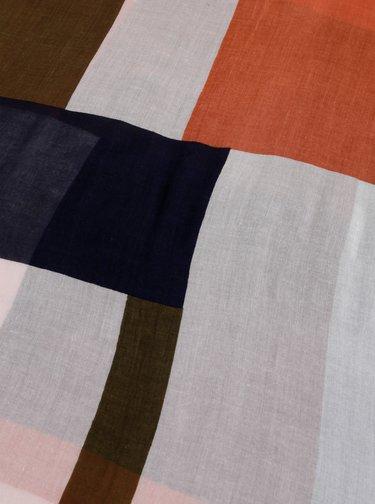 Bílo-cihlový šátek Pieces Cia