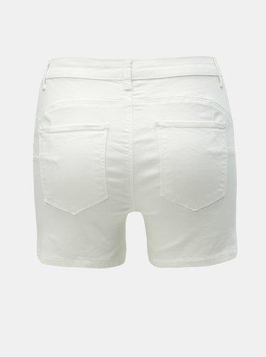 Biele rifľové kraťasy ONLY Rain