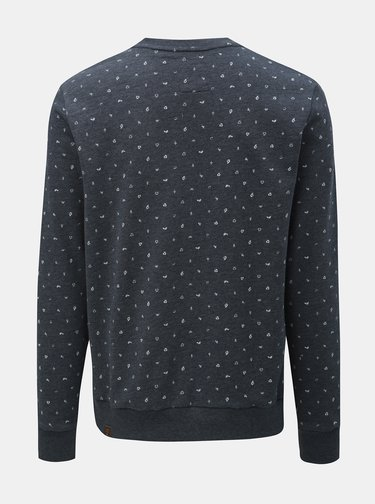Bluza sport barbateasca albastru inchis cu model discret Ragwear Geron Organic