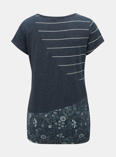 Tricou albastru inchis de dama cu model Ragwear Taby Block