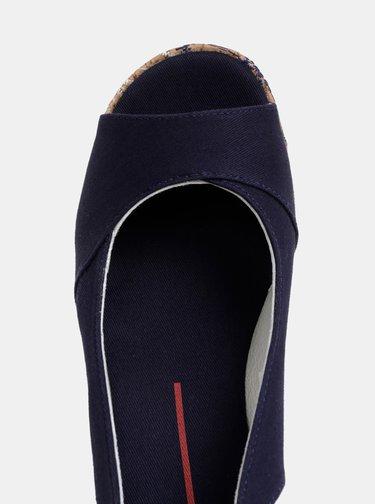 Sandale albastru inchis cu platforma wedge U.S. Polo Assn.