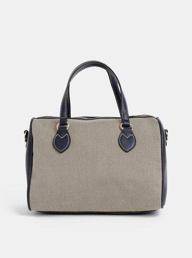 Béžovo–modrá kabelka U.S. Polo Assn.