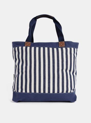 Tmavomodrá dámska pruhovaná taška U.S. Polo Assn.