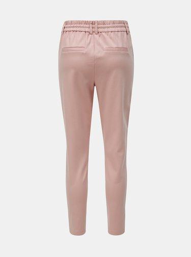 Svetloružové nohavice s vysokým pásom ONLY Poptrash