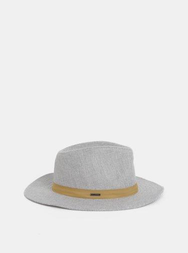 Světle šedý klobouk s příměsí lnu Roxy Spring