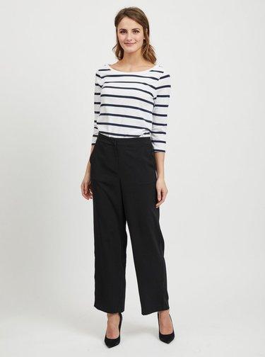 Modro-bílé pruhované basic tričko s 3/4 rukávem VILA Striped