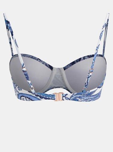 Bielo–modrý vzorovaný vrchný diel plaviek Dorothy Perkins