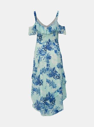 Světle modré květované midišaty s volány Dorothy Perkins