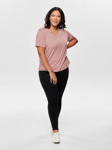 Ružové basic tričko ONLY CARMAKOMA Carcama
